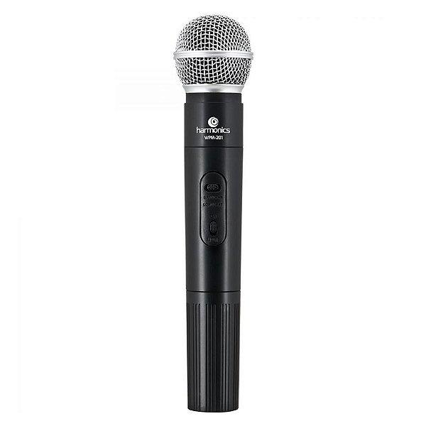 Microfone Harmonics VHF WPM-201 Sem Fio