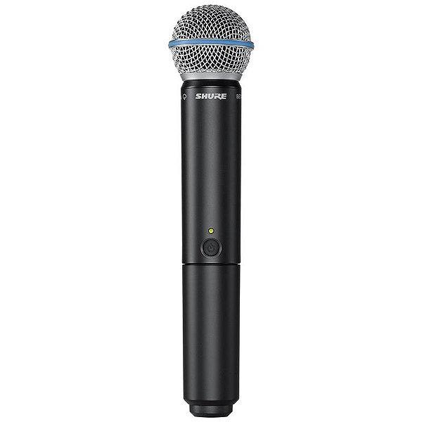 Microfone Shure Blx24br Sm58 Sem Fio Com Estojo