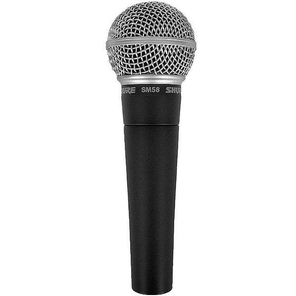 Microfone Shure Sm58 Lc Com Estojo