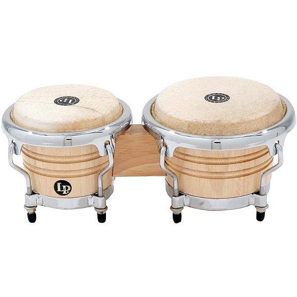 Mini Bongo Latin Percussion Lpm199 Aw Lp Natural Wood