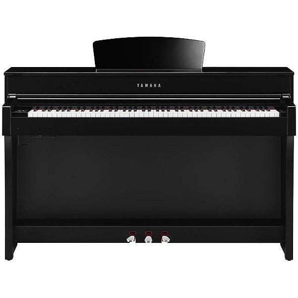 Piano Digital Yamaha Clavinova Clp-635 Polished Ebony Com Estante E Banco
