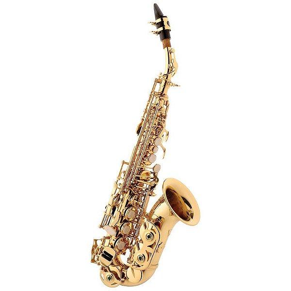 Saxofone Eagle Soprano Curvo em Sib Sp508 Com Case