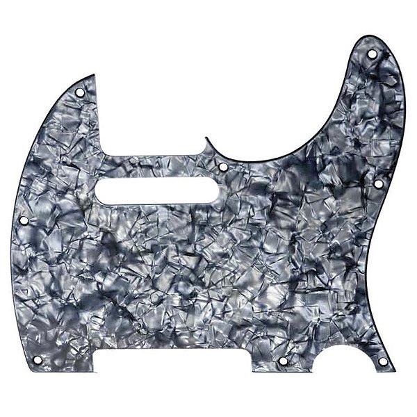 Escudo Para Guitarra Telecaster Dolphin 2356 Preto Perolado