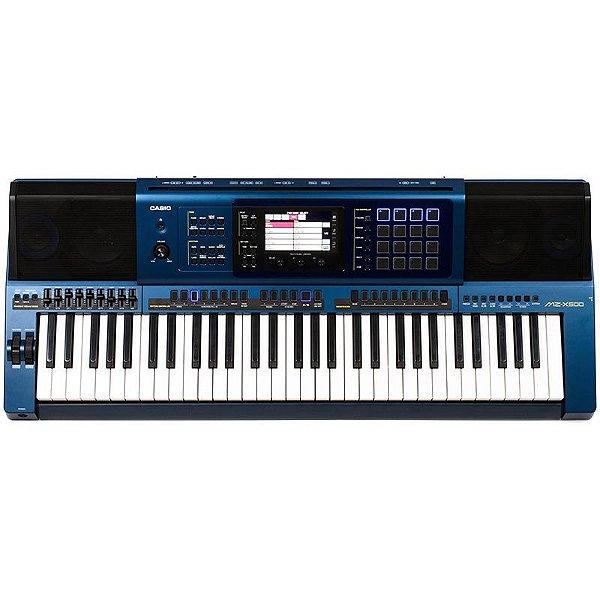 Teclado Arranjador Casio Mz-X500 Azul