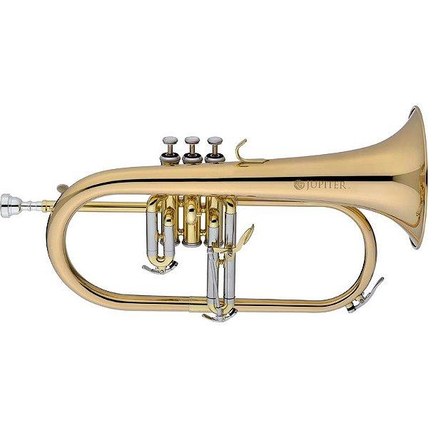 Trompete Flugelhorn Jupiter Rose Brass Jfh1100r Gold Lacquer Bb Com Case