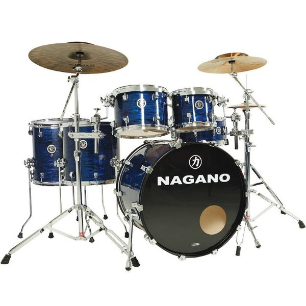Bateria Acústica Nagano Concert Full Celulloid 22 Brooklin Blue