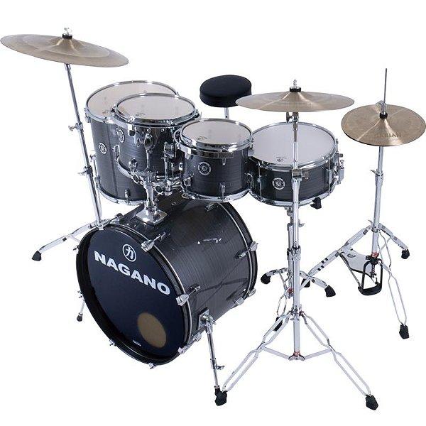 Bateria Nagano Drums Modelo Garage Rock 22 Vintage Stripe