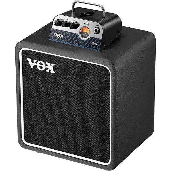 Cabeçote Valvulado E Caixa Vox Mv Series Mv50 Rock Set