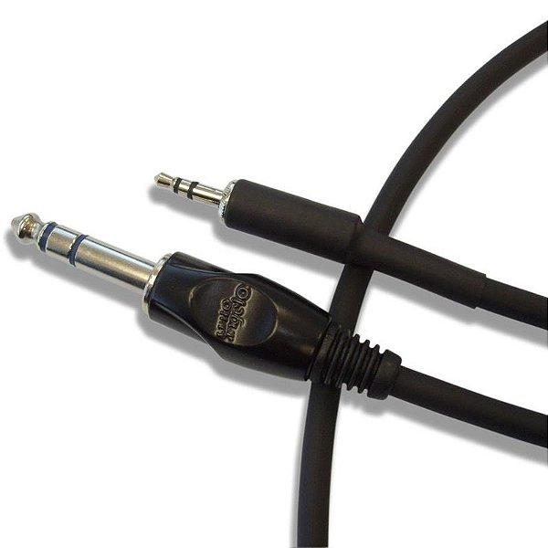 Cabo De Audio Santo Angelo Ac8 Conectores P2 / P10 Stereo 2m