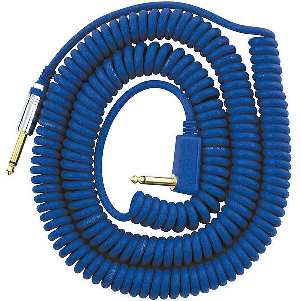 Cabo P10 Espiral Vox Vcc90 Azul 9 Metros