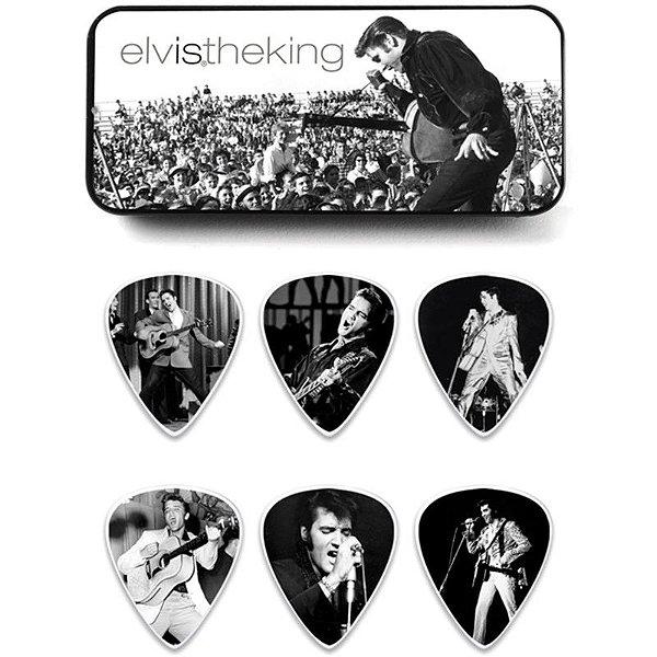 Kit De Palhetas Dunlop Elvis Presley The King Com 6 Unidades 8162