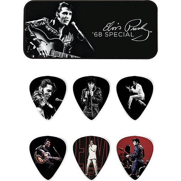 Kit De Palhetas Elvis Presley 68 Dunlop Lata Com 6 Unidades 8132