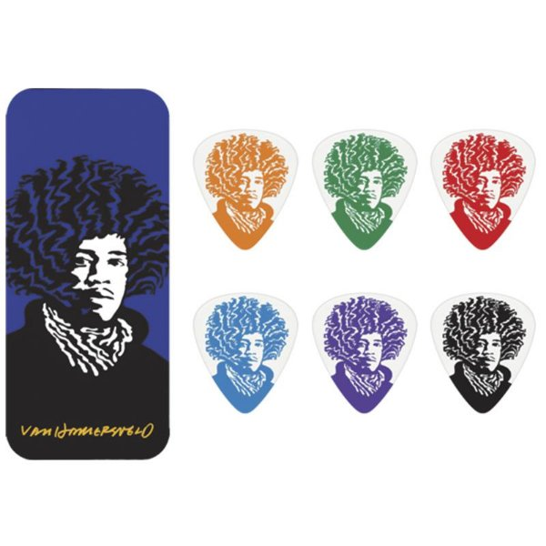 Kit De Palhetas Jimi Hendrix Dunlop Lata Com 6 Unidades 8731