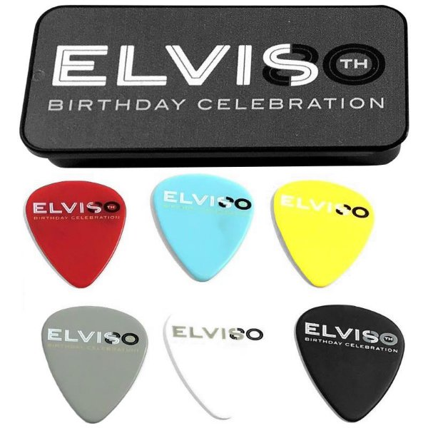 Kit Palhetas Dunlop Elvis Presley 80th Birthday 1.14mm