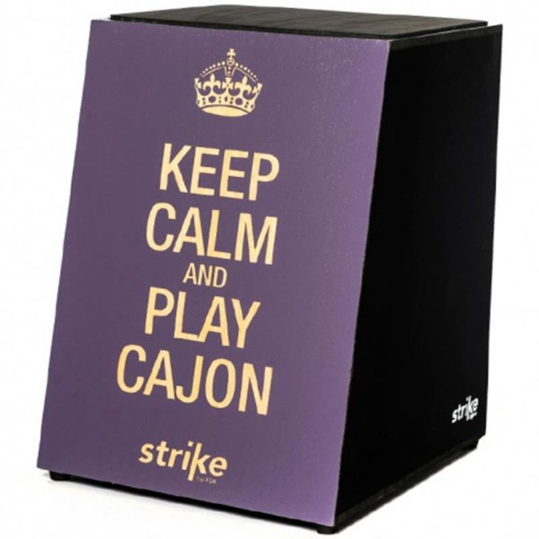 Cajon Inclinado Acústico Fsa Strike SK4008 Keep Calm And Play Cajon