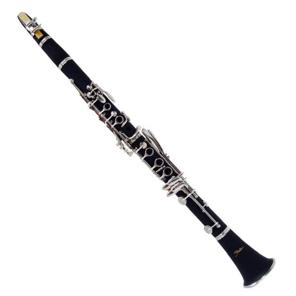 Clarinete Shelter Tjs6402 Niquelado Em Bb Com Hard Case