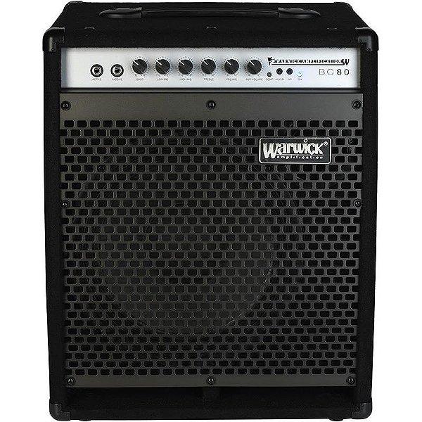 Cubo Amplificador Para Contrabaixo Warwick 80w Bc80