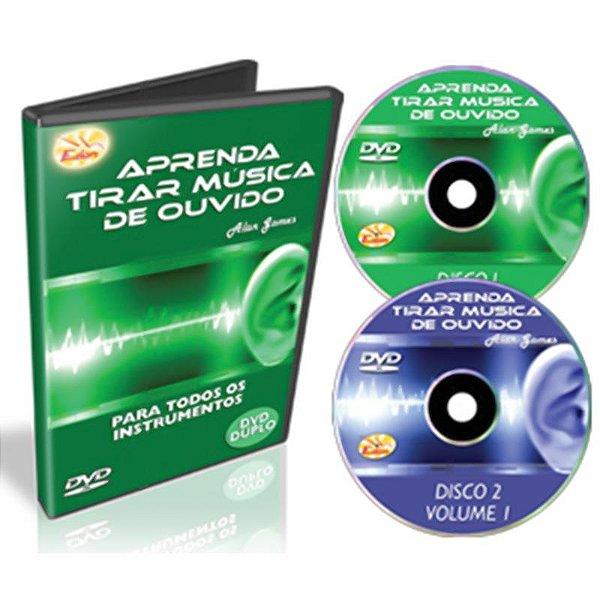 Curso DVD Aprenda Tirar Música de Ouvido Vol 1 Duplo Edon