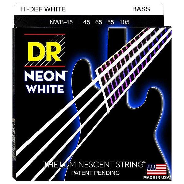 Encordoamento Contrabaixo Dr Neon White 045 4 Cordas Branco Nwb-45