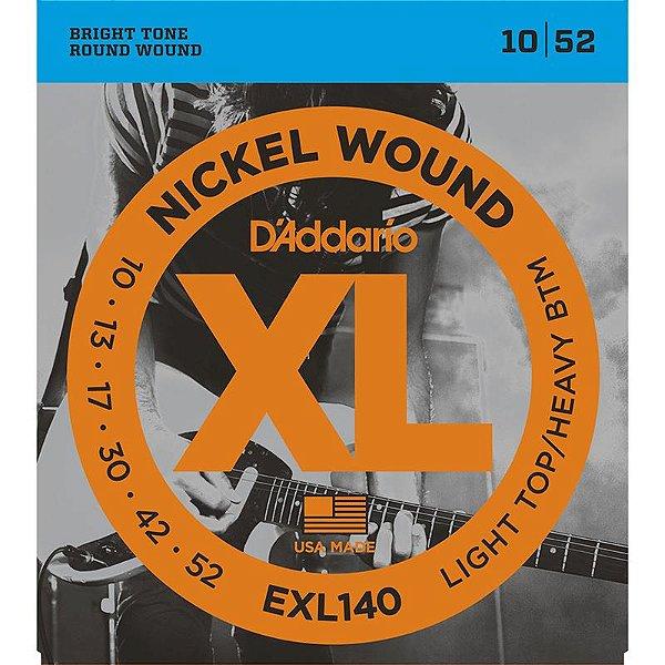 Encordoamento Daddario Exl 140 Guitarra 010 Nickel Wound