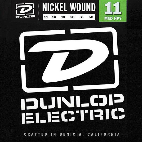 Encordoamento Dunlop Guitarra 011 Nickel Wound Medium Heavy