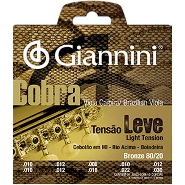 Encordoamento Giannini Cobra P/ Viola Cebolão Mi Cv82l Leve