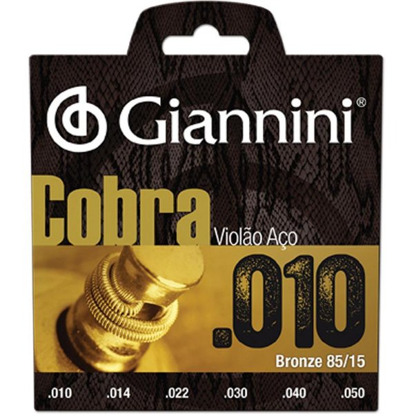 Encordoamento Giannini Para Violão Aço Geefle Bronze 85/15