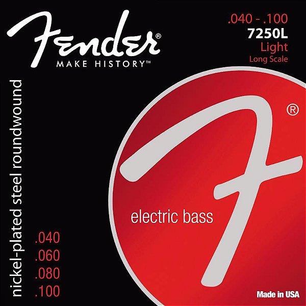Encordoamento Para Contrabaixo 4 Cordas Aço 0.40 7250L Niquelado Fender