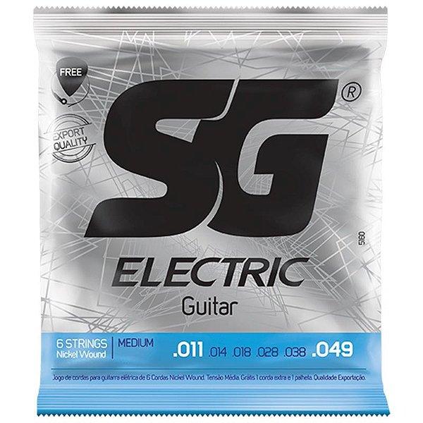 Encordoamento para Guitarra 011 Sg Nickel Wound