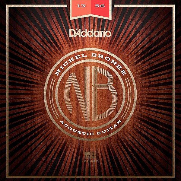 Encordoamento Para Violão 013 Aço Daddario Nickel Bronze Nb1356