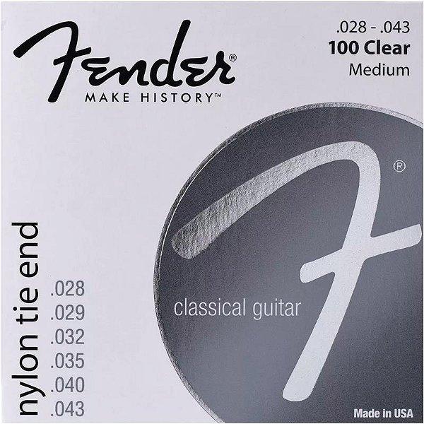 Encordoamento Para Violão Nylon Fender 100 CLEAR 0.28/0.43