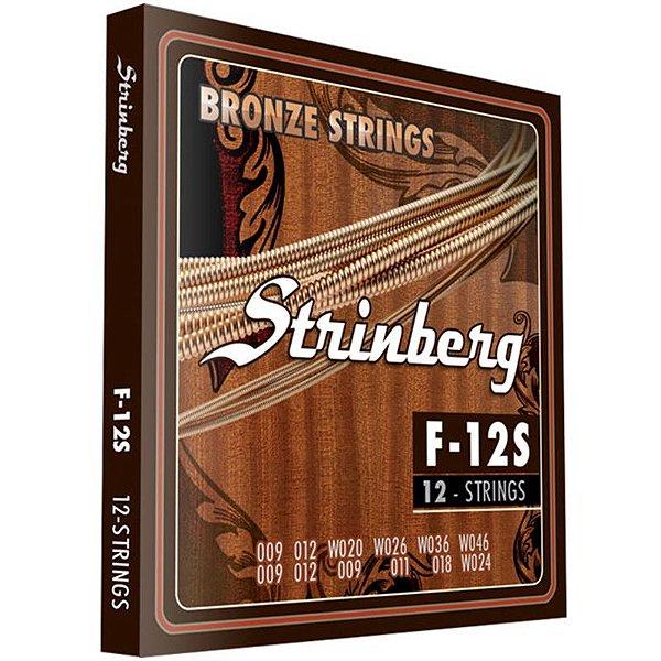 Encordoamento Violão 12 Cordas Aço Strinberg F12s
