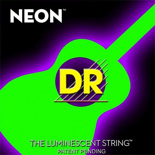 Encordoamento Violão Aço DR Neon Green 010 Verde Nga-10