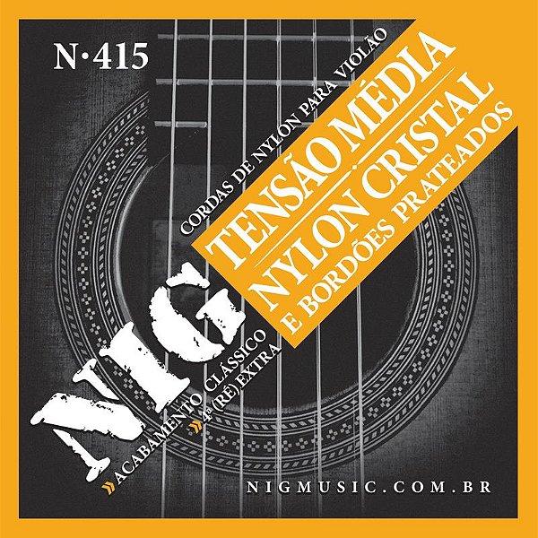 Encordoamento Violão Nylon Nig N415 Média Tensão