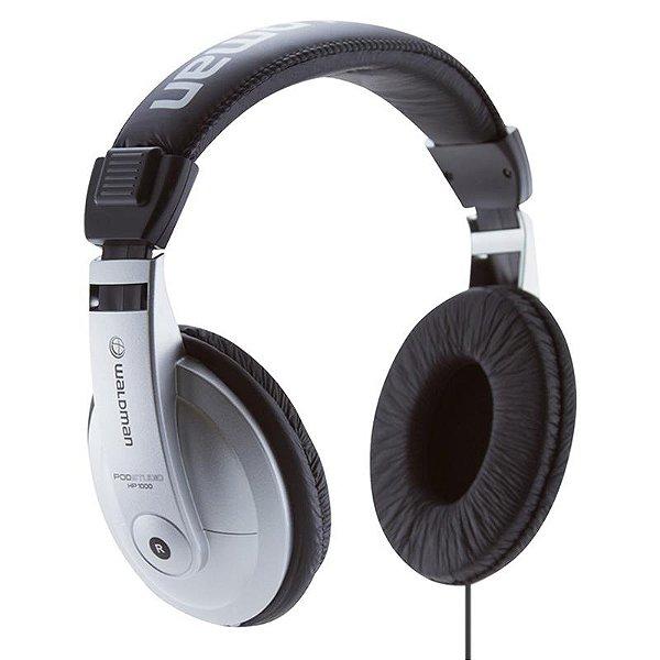 Fone De Ouvido Waldman Hp1000 Headphone Prata Com Adaptador P10