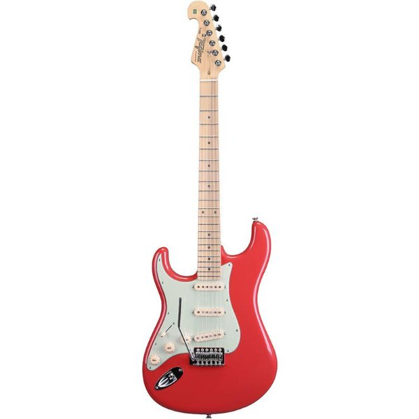 Guitarra Canhota Tagima Stratocaster Hand Made In Brazil Fiesta Red T635 Lh
