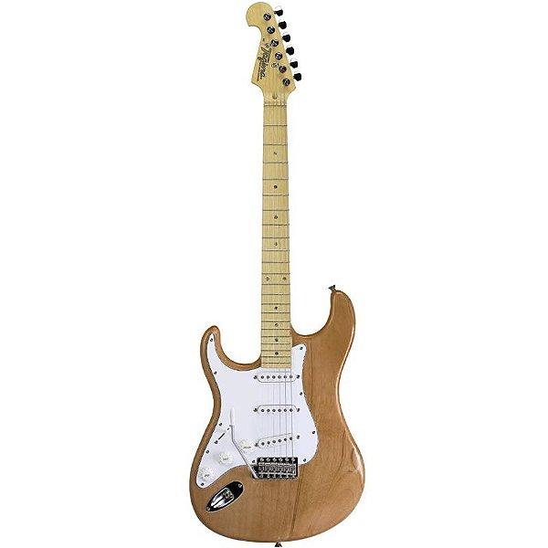 Guitarra Canhota Tagima T735 Hand Made In Brazil Natural Tarraxa Com Trava Natural