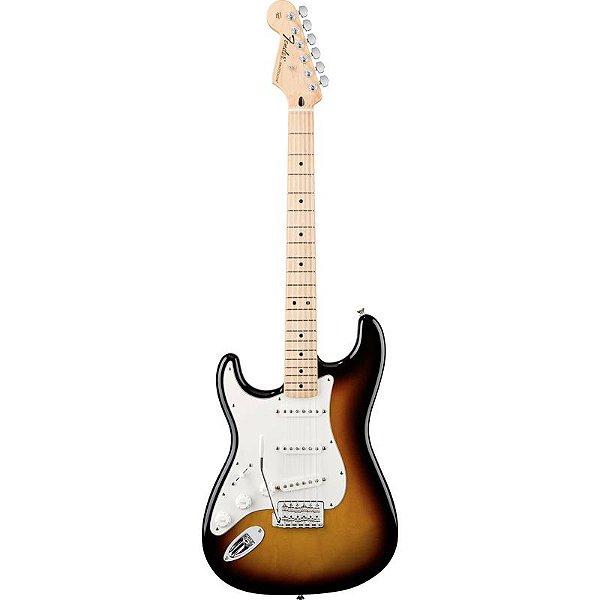 Guitarra Fender Canhota Stratocaster Standard Mexicana Brown Sunburst