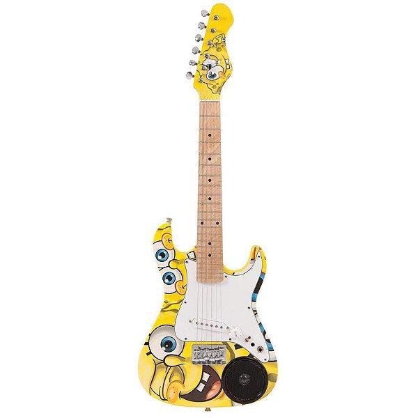 Guitarra Infantil Bob Esponja 3/4 Com Falante Integrado E Bag