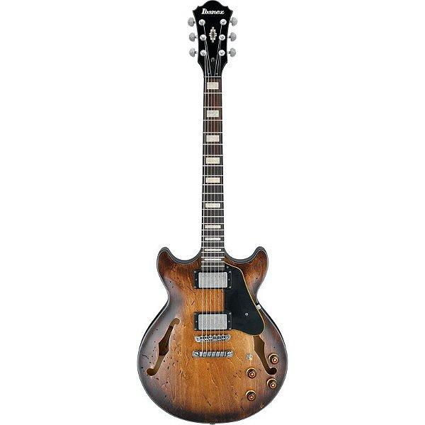 Guitarra Semi Acustica Ibanez Amv10a Tcl Envelhecida