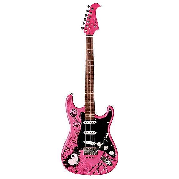 Guitarra Stratocaster Eagle Egp10 Cr Rosa