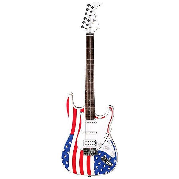 Guitarra Stratocaster Eagle Sts002 Us Bandeira Estados Unidos