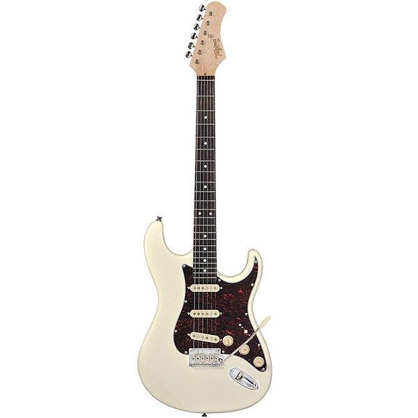 Guitarra Tagima Stratocaster T-635 Classic Hand Made Branco Vintage