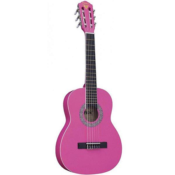 Violão Infantil 1/2 PX 31 Rosa Com Bag
