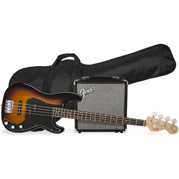 Kit Contrabaixo Fender Squier Affinity PJ Bass Rumble 15 Brown Sunburst