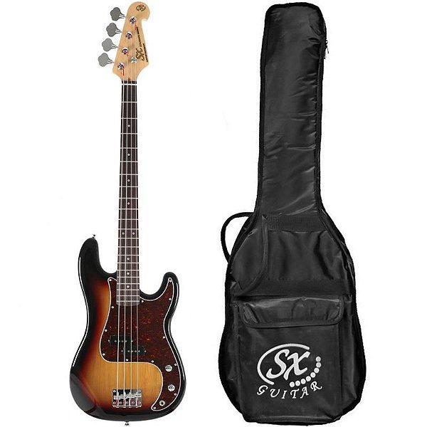 Contrabaixo Sx Precision Bass Bd2 4 Cordas Sunburst Com Bag