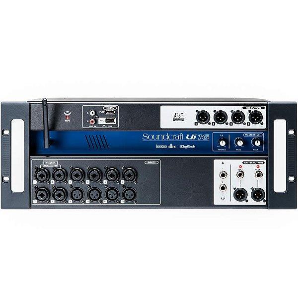 Mesa de Som Digital Soundcraft UI16 USB 16 Canais