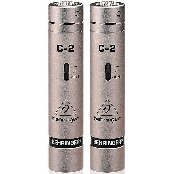 Microfone Condensador Behringer C-2 Estúdio Com Estojo