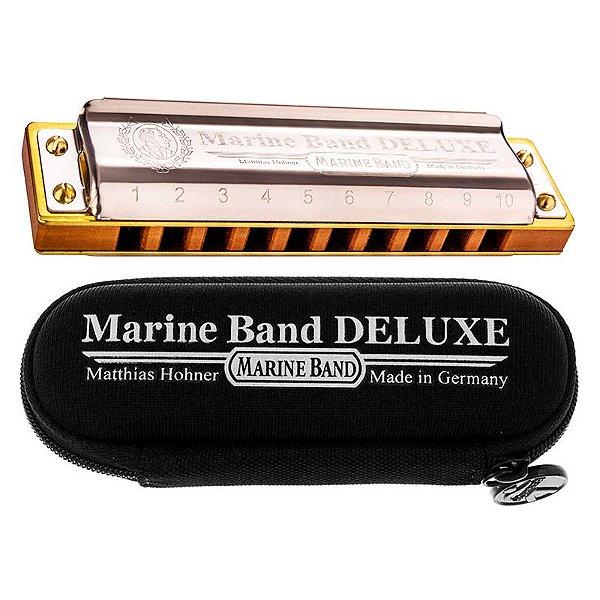 Gaita Dó C Harmônica Hohner Marine Band Deluxe C/ Estojo