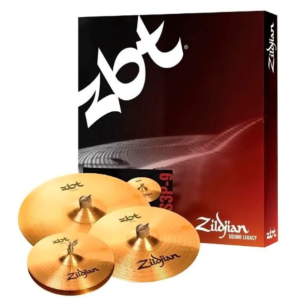 "Kit Pratos Zildjian ZBT STARTER ZBTS3P-9 Bronze B8 13"" 14"" 18"""